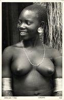 Kenya, Native Nude Giriama Woman, Scarification, Jewelry (1950s) Postcard - Kenya