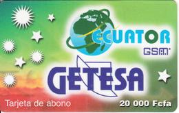 EQUATORIAL GUINEA - Getesa Prepaid Card 20000 Fcfa(plastic), Used - Equatorial Guinea