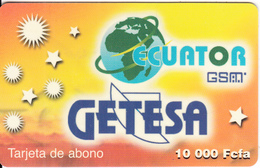 EQUATORIAL GUINEA - Getesa Prepaid Card 10000 Fcfa(plastic), Used - Guinée-Equatoriale