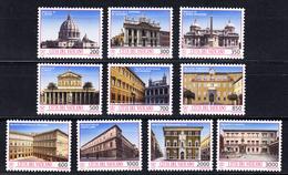 VATICANI 1993. TESOROS ARTISTICOS DE LA CIUDAD DEL VATICANO. SASSONE Nº 948/957 NUEVOS SIN CHARNELA.. SES 439 GRANDE - Vaticano (Ciudad Del)