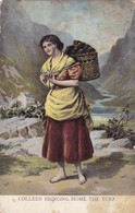 Postcard Colleen Bringing Home The Turf PU Sligo 1916 ? By Lawrence Of Dublin My Ref  B12580 - Other