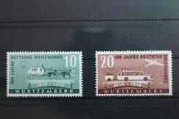 Französische Zone Württemberg 49-50 ** Postfrisch #SH048 - French Zone