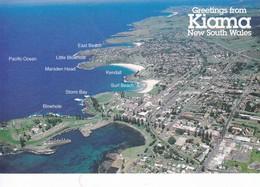 Postcard Greetings From Kiama New South Wales Aerial View C 1998 My Ref  B12582 - Australia