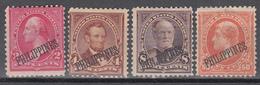 Administración Americana, 1899-1901 YVERT Nº 177, 179, 182, 185,  /*/ - Filipinas