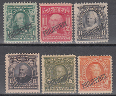 Administración Americana, 1904  YVERT Nº 189, 191, 196, 198, 199, 200,   /*/ - Filipinas