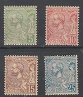 Monaco N° 22 à 25 ** Série Compléte Prince Albert 1 Er - Unused Stamps