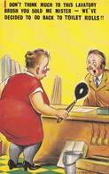 Postcard Bamforth Comic Series No 433 Toilet Brush Lavatory Humour My Ref  B12584 - Humour