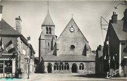"""/ CPSM FRANCE 28 """"Toury, L'église"""" - France"""