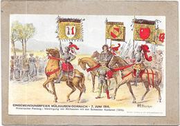DEPT 67 - LOT De 8 CPA EINGEMEINDUNGSFEIER MULHAUSEN DORNACH 7 Juni 1914 - Illust. BECKER - DELC - - Cartes Postales