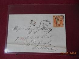 Lettre De 1863 Avec No 23 A Destination D Edimbourg Au Depart De Paris - Postmark Collection (Covers)