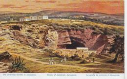 AK 0049  Perlberg , F. - Jeremias Grotte In Jerusalem / Künstlerkarte Um 1910-20 - Palästina