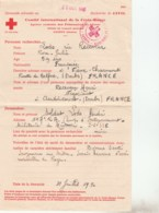 COMITE INT DE LA CROIX ROUGE RECHERCHE DE CIVIL CAMP D INTERNEMENT MILITAIRE DE MURREN - Croix-Rouge