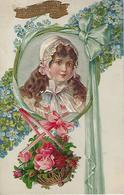 Carte Relief Bonne Année-decoupis Et Tissu-1910 - Fantaisies