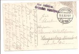 WO1 K.D.Feldpost.Aus Millitärische Gründen Verzögert.AK Warschau Polen - 1. Weltkrieg