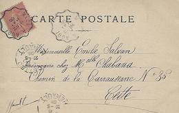 Cachet Convoyeur 1906 Meze à Agde Sur Cpa Paris - 1877-1920: Periodo Semi Moderno