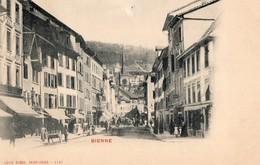CPA - SUISSE - BIEL- BIENNE - Rue Centrale - BE Berne