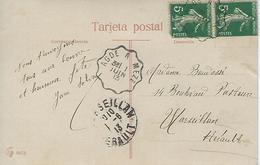 Cachet Convoyeur 1913 Agde à Meze Sur Cpa Fantaisie Corrida - 1877-1920: Periodo Semi Moderno