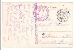 WO1 Feldpost.Worms. Verband U Erfrisschungsstelle. - 1. Weltkrieg