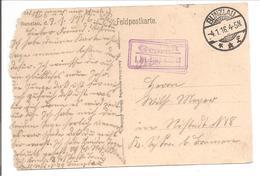 WO1 Feldpost. Zensur. Bunzlau. AK Kaserne Hoffmann - 1. Weltkrieg