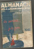 ALMANACH DE LA LEGION FRANCAISE DES COMBATTANTS 1941 - Other