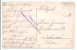 WO1 Feldpost. Zensur. Lörrach.Ebnet.A.K. Sankt Wendelin - 1. Weltkrieg