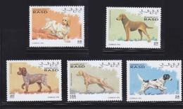 Sahara1995 Dog Chien MNH 5V+1SS - Sellos
