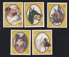 Sahara1992 Dog Chien MNH 5V+1SS - Africa (Other)