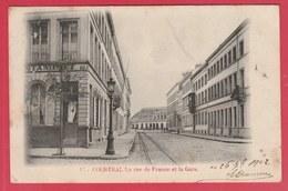 Kortrijk / Courtrai - La Rue De France Et La Gare - 1902 ( Verso Zien ) - Kortrijk