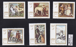 Ajman1968 Painting Dog Chien MNH 6V - Africa (Other)