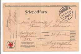 WO1 Feldpost. 2Pf Rotes Kreuz Pkt. Salder>Hasenpot In Kurland/Latvia - 1. Weltkrieg