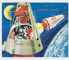 Ajman1971 Space Dog Chien MNH 1SS - Africa (Other)