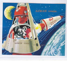 Ajman1971 Space Dog Chien MNH 1SS Imp - Africa (Other)