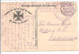 WO1 Feldpost. Kriegs-Gedenk-Postkarte Die Wacht Am Rhein - 1. Weltkrieg