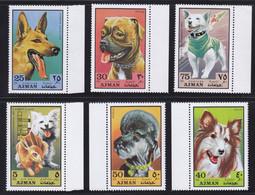 Ajman1971 Dog Chien MNH 6V - Africa (Other)