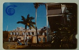 ANTIGUA & BARBUDA - GPT - ANT-1B - $10 - 1CATB - 1st Issue - Nelson's Dockyard - MINT - Antigua And Barbuda