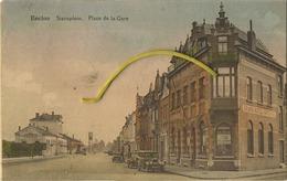 Eeklo - Eecloo : Statieplein - Place De La Gare ( IN KLEUR ) ( Geschre Ven 1932 Met Zegel ) - Eeklo
