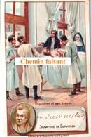 Chromo Chocolaterie D'AIGUEBELLE - DUPUYTREN Et Ses élèves + Signature De L'intéressé -  Scans Recto-verso - Aiguebelle