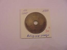 CONGO BELGE 10 CENTIMES 1889 TRES BELLE QUALITE ! - Congo (Belge) & Ruanda-Urundi
