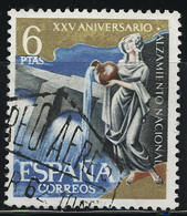 """Spanien 1961, MiNr. 1257 O (gest.); 25. Jahrestag Der """"Nationalen Erhebung""""; A-3747 - 1961-70 Gebraucht"""