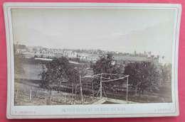 1879-80 Photo Sur Carton Vevey Et La Dent Du Midi éditeur Charnaux N°345 Bis Maison Des 3 Rois Genève Suisse - Anciennes (Av. 1900)