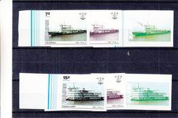 Zaïre - COB 1302 + 1305 - 6 Essais De Couleurs - NON Dentelés - Transports - Bateaux - Zaïre