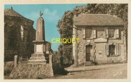 15 Meallet, La Poste Et Le Monument Aux Morts, Cliché Pas Très Courant - Sonstige Gemeinden