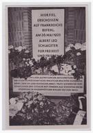 Dt.-Reich (002047) Propaganda Sammelbild, Deutschland Erwacht, Bild 117, Schlageter (Holzheimer Seide) - Briefe U. Dokumente