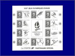 FRANCE Blocs Feuillets Yvert:14 B, Tirage En Noir Non Dentelé:Jeux Olympiques D'Albertville 92 - Qualité: XX . Cote: 500 - Blocs & Feuillets