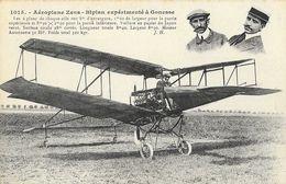 Aéroplane Zens, Biplan Expérimenté à Gonesse, Moteur Antoinette - Edition J. Hauser, Carte N° 1015 Non Circulée - ....-1914: Précurseurs