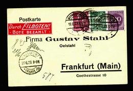 A5647) DR Infla Expresskarte Wipperfürth 19.6.23 N. Frankfurt - Briefe U. Dokumente