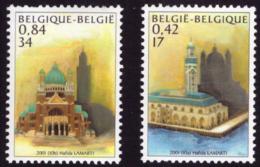 Belgium 3002/3** Mosquee Et Basilique MNH - Belgium