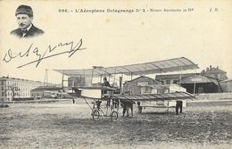 Aéroplane Delagrange N° 2, Biplan Moteur Antoinette - Pilote En Médaillon - Carte J.H. N° 996 Non Circulée - ....-1914: Precursores