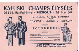Buvard KALUSKI CHAMPS-ELYSEES 70 VESOUL / Vêtements - Textile & Clothing