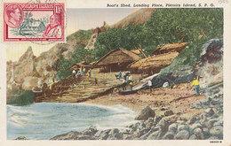 D35385 CARTE MAXIMUM CARD?? 1953 PITCAIRN ISLANDS - LANDING PLACE HOUSES CP ORIGINAL - Pitcairn